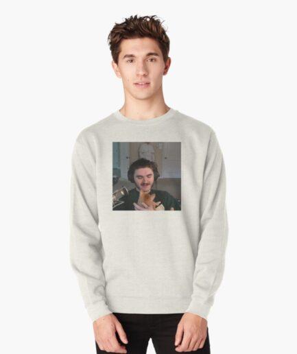 Schlatt with his cat Pullover Sweatshirt
